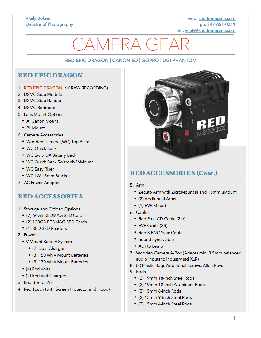 Camera Package Pg 1