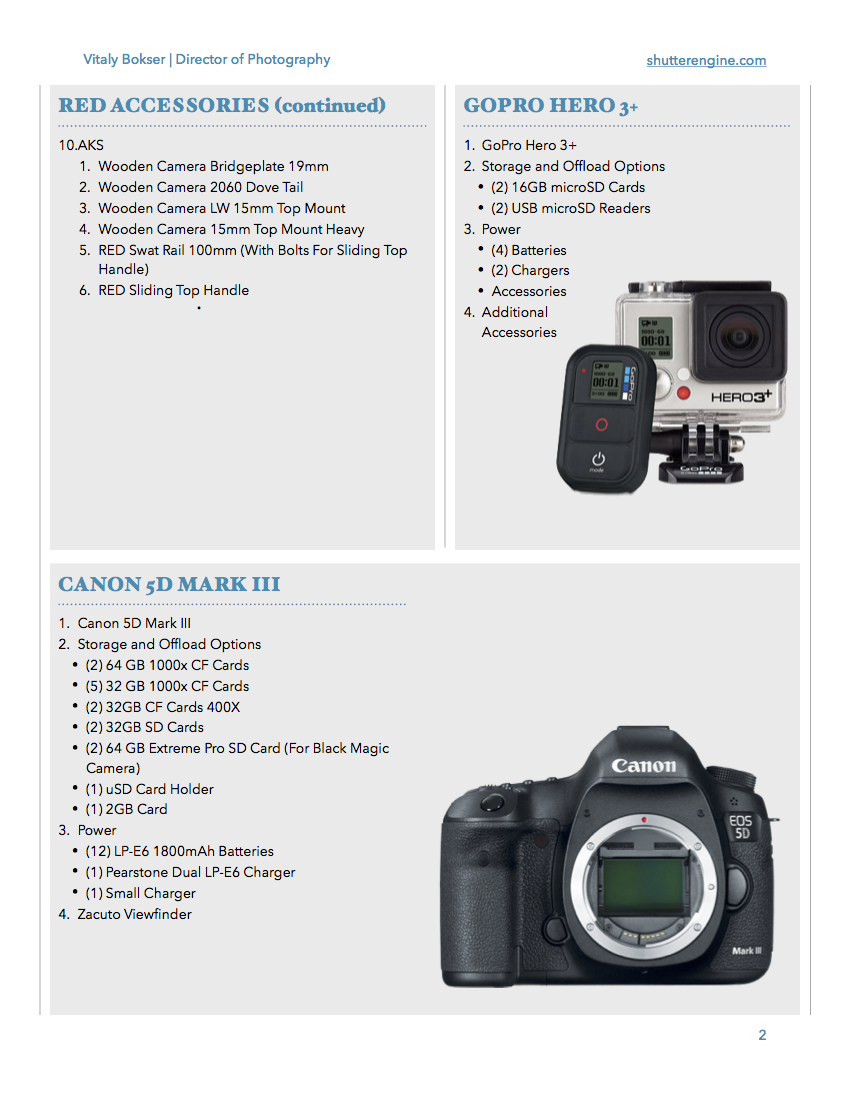Camera Package Pg 2