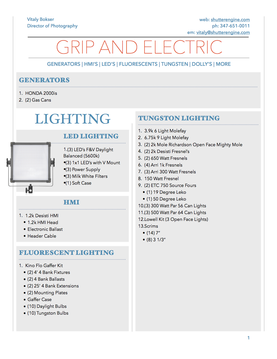 Grip and Electric Package Pg 1